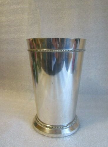 VINTAGE Lacquered Silver Plate VASE Made in India w Original Sticker c 1980 🌻!