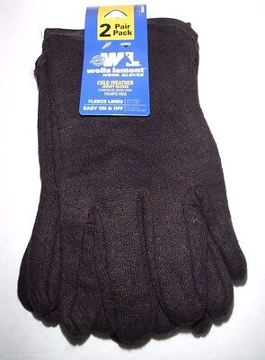 New Wells Lamont 2149ln Fleece-lined Jersey Work Gloves Large 2-pair Pack