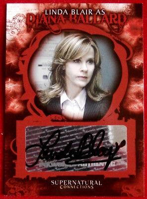 "LINDA BLAIR (""The Exorcist"") as Diana Ballard in SUPERNATURAL - Autograph Card"