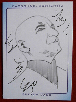 "THUNDERBIRDS - SKETCH CARD - Sir Ben Kingsley as ""THE HOOD"" by JOHN CZOP 2004"