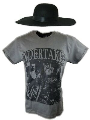 Wwe The Undertaker Costume (Undertaker Nightmare T-shirt Hat Halloween)