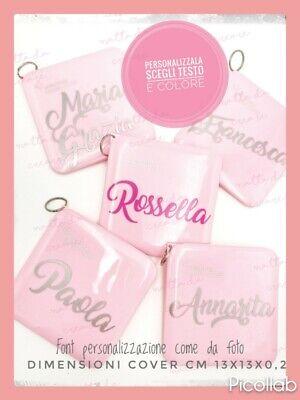 Porta Mascherina Custodia per Mascherine rosa Contenitore Cover con Nome bambini