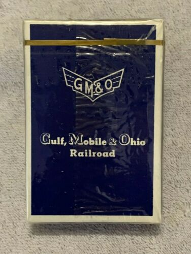 GM&O Railroad Playing Cards - UNOPENED DECK - Blue