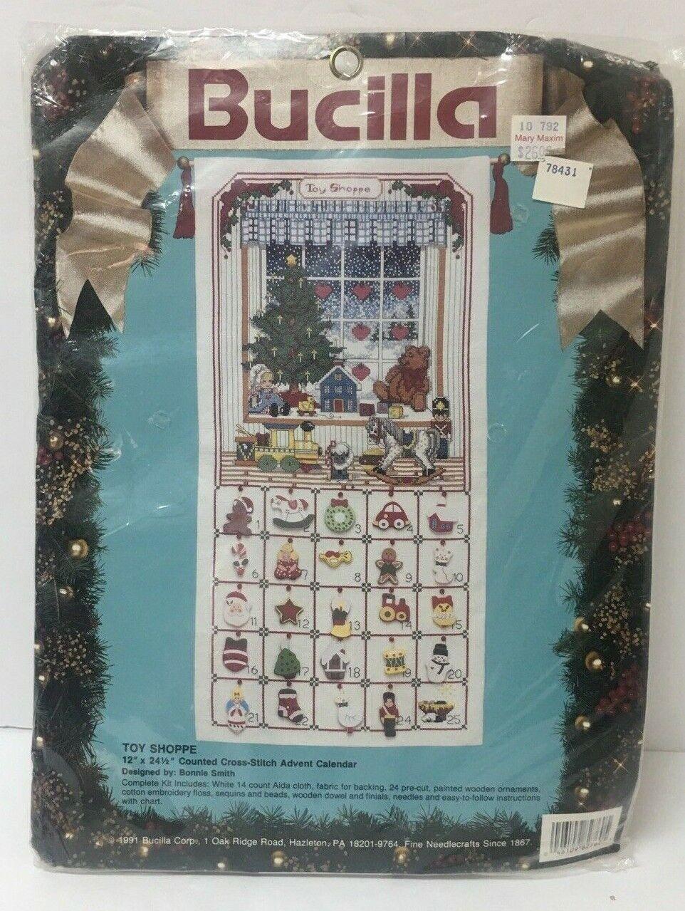 Bucilla TOY SHOPPE Christmas Advent Calendar Counted Cross S
