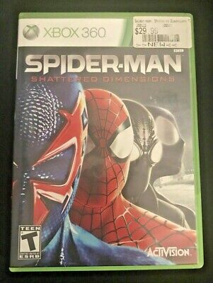 Spider-Man Shattered Dimensions (Microsoft Xbox 360, 2010) Video Game marvel