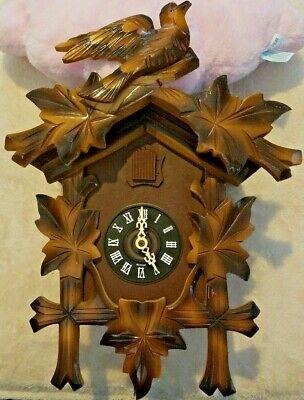E. Schmeckenbecher Cuckoo Clock -Complete- Needs Repairs