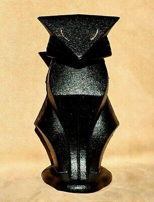Art Deco cat door stop black cast iron ~ Frank Lloyd Wright ~ new Hubley statue