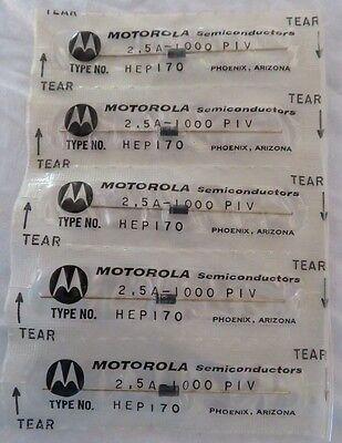 Vintage Hep170 Nos Motorola Semiconductors - Lot Of 5