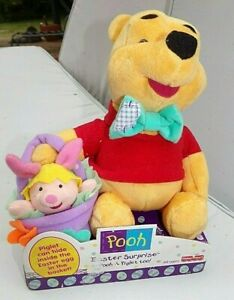 Fisher Price Disney Winnie The Pooh & Piglet Easter sorpresa Giocattolo Peluche Peluche