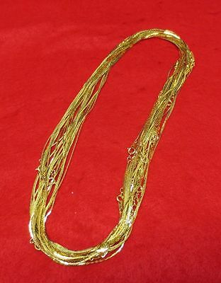 144 Mm To Inches (WHOLESALE LOTS FROM 5  PCS TO 144 PCS 14KT GOLD EP 20 INCH  1MM COBRA)