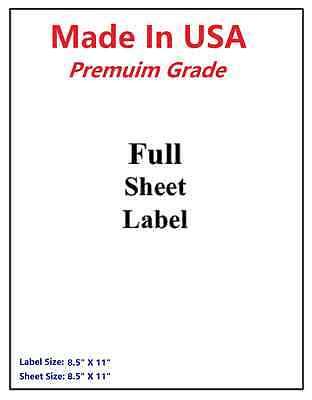 100 Premium Full Sheets-made In Usa-self Adhesive-usps Ups Paypal-8.5x11-5165
