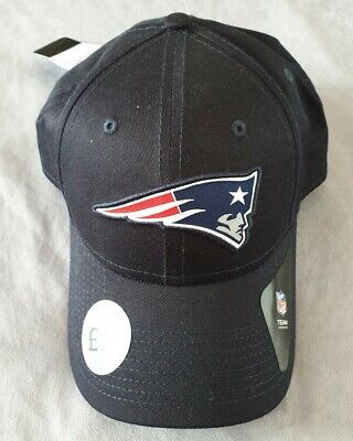 BNWT MENS NAVY BLUE NFL NEW ENGLAND PATRIOTS CAPS/HATS, ONESIZE, AJUSTABLE STRAP