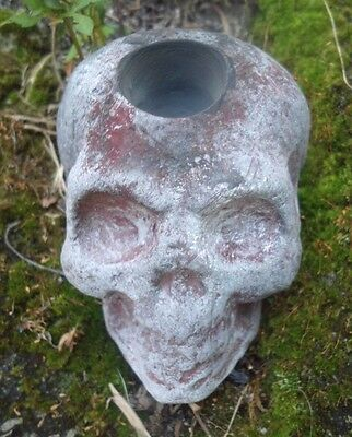 rugged candle holder Latex skull mold Halloween mould 4