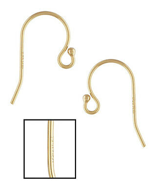 Gold Fill Earwires - 14k Gold Filled Ball End Hook Earwires 10pcs #6203-1