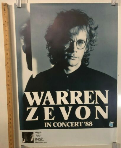 Warren Zevon In Concert 1988 German Tour Poster Werewolves Of London Rock