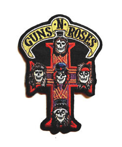 GUNS `N`ROSES (L)  Embroidered Iron On Sew On Patch