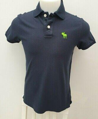 NEW Men's Abercrombie & Fitch Muscle Navy Pique Cotton T- Shirt Mesh...