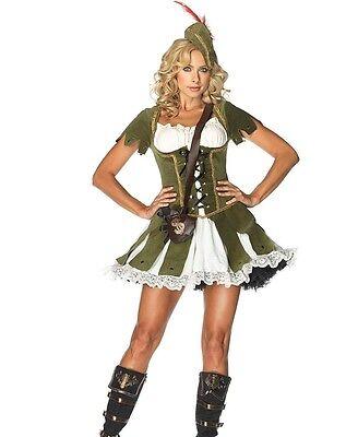 Robin Hood Damen Kostüm Grün Gr. S bis XL Mittelalter Karneval Kleid Marian