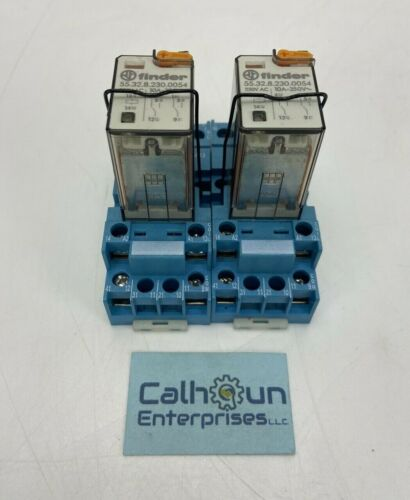 (LOT OF 2) FINDER 94.72 Relay Socket with 55.32.8.230.0054 Relay *WARRANTY*