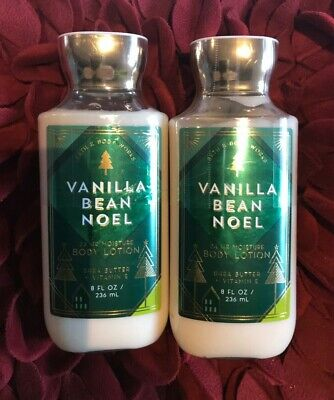 BATH AND BODY WORKS VANILLA BEAN NOEL LOTION 8 OZ, LOT OF 2 BOTTLES NEW, SEALED!