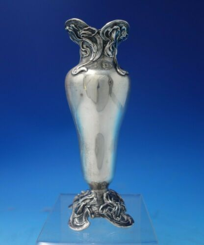 """Iris by Black Starr and Frost Sterling Silver Vase #1211 7 1/8"""" x 2 1/4"""" (#5479)"""