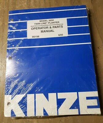 Kinze Model 3650 Twin-line Planter Operator Parts Manual M0198 1j-2388-y21