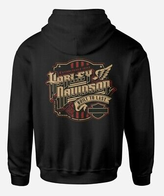 HARLEY DAVIDSON BUILT TO LAST MK 2 HOODIE - SIZE UP TO 5XL - CAN BE PERSONALISED