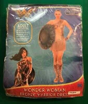 WOMEN'S WONDER WOMAN BRONZE HALLOWEEN COSTUME SIZE LARGE BRAND NEW *NEVER WORN!!