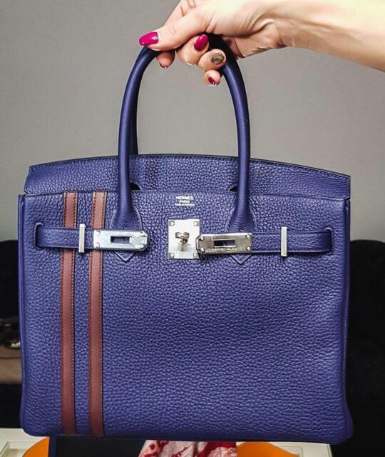 5c295e67fdc1 Hermès Birkin B30 Officer Blue Encre  47 Bordeaux Togo PHW