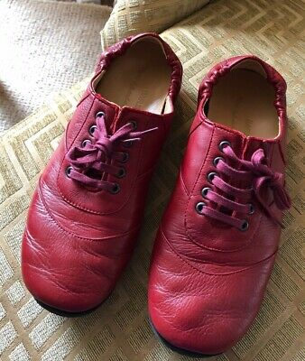Haflinger red leather shoes women size 40, used for sale  Cambridge