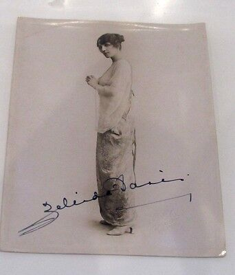Collectable Vintage Original 1910 / 1920s Large Photograph Print Autograph Girl