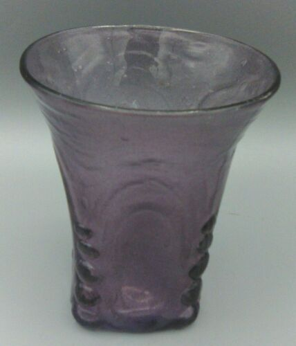 """Consolidated Glass Catalonian Spanish Knobs Tumbler Vase Amethyst 4 1/4"""""""
