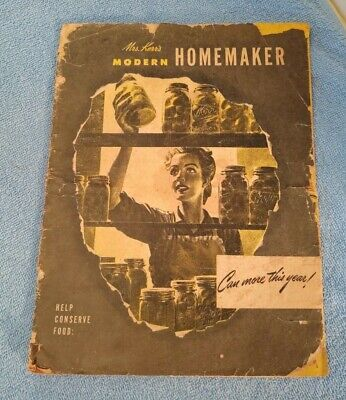 OLD Vtg Modern Mrs Kerr's Homemaker Magazine Canning Can More This Year! 1948