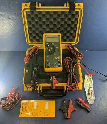 Fluke 78 Automotive Meter Excellent Screen Protector Hard Case Rpm Probe