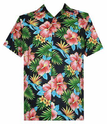 Hawaiian Shirt Mens Allover Flower Beach Aloha Party Casual Holiday Short Sleeve