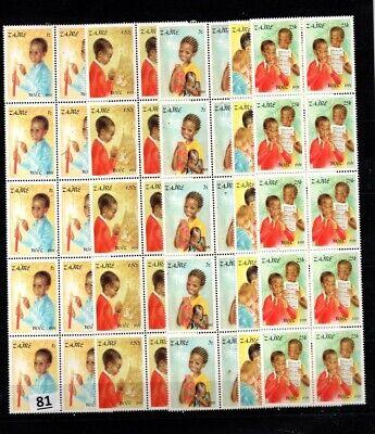 // 10X ZAIRE 1981 - MNH - NOEL - CHILDREN
