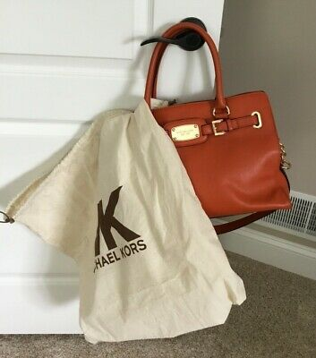 MICHEAL KORS ORANGE HANDBAG PURSE WITH DUST BAG