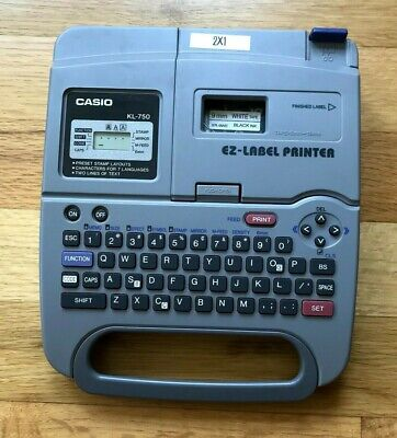 Casio Ez Label Thermal Printer Kl 750 -tested Includes Tape