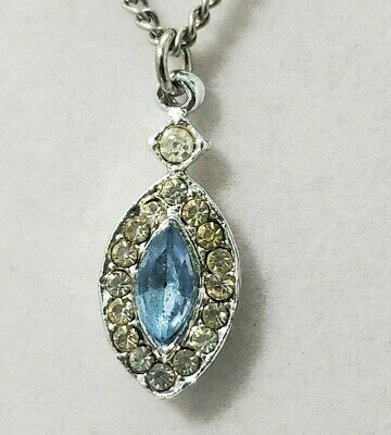1 1//16 tall Sterling Silver Oxidized Pendant 27mm w// 11 x 9 mm Oval-shaped Blue Resin