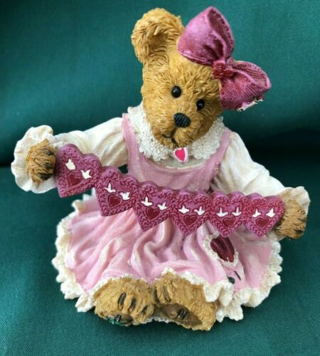 BOYDS BEARSTONE FIGURINE - LOVEY BEARYMUCH ...SWEET THOUGHTS OF YOU
