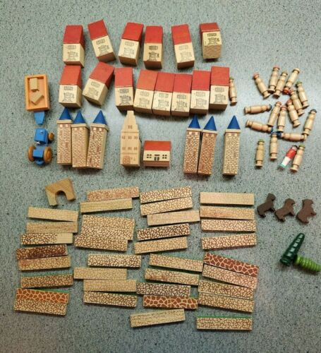 Large Lot of 80 WOOD PUTZ DISPLAY PIECES, Germany