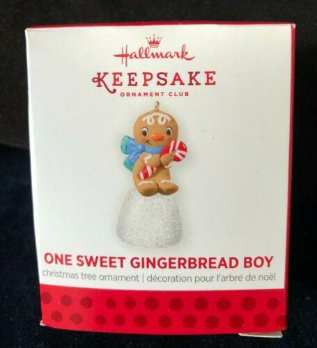 2013 Hallmark One Sweet Gingerbread Boy LOCAL CLUBS REPAINT Keepsake Ornament