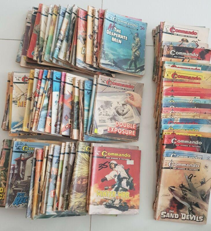VINTAGE WAR COMIC Bundle X 97 COMMANDO Action & Adventure comic book #1970s