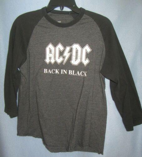 AC/DC Back in Black 2004 Tour Aces & Eights Raglan LS shirt sz L (fits small)