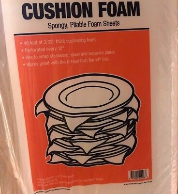 New Cushion Foam 40 Feet Of 332 Thick  Perforated Every 12 Ships Fast