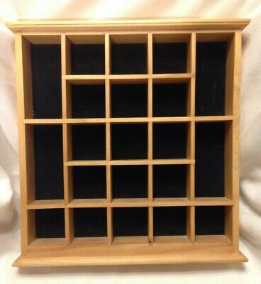 Vintage Wood Curio Display Case21 Spacesshadow Boxhanging Or Standing
