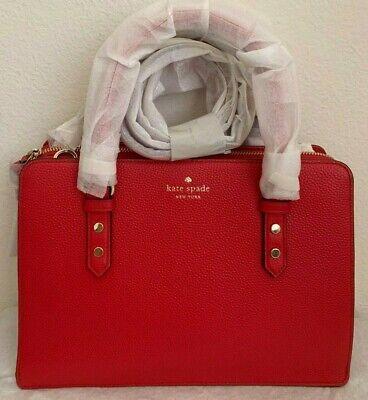 NWT Kate Spade Mulberry Street Lise Leahter Satchel Bag WKRU4002 Hot Chili