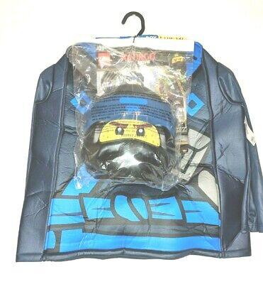 Jay Ninjago Costume (Lego Ninjago Movie JAY PADDED 3-piece Costume KidsLarge10-12 Mask Gloves)