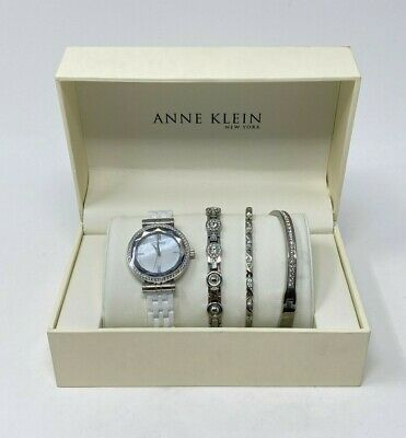 Anne Klein 12/2317WTST Anne Klein New York Ceramic Bracelet Watch Set