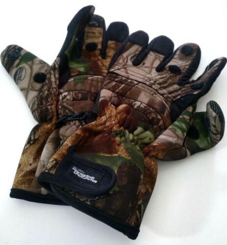 Shimano Tribal Realtree Gloves, insulated, fingerless option Men
